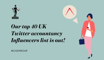 #ICAEWROAR Top Online UK Influencers: Accountancy 2019